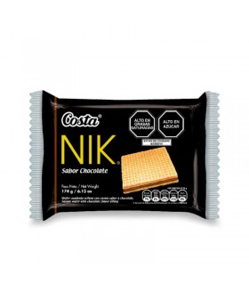 Wafers Nik Costa Chocolate Pack 6 Unidades