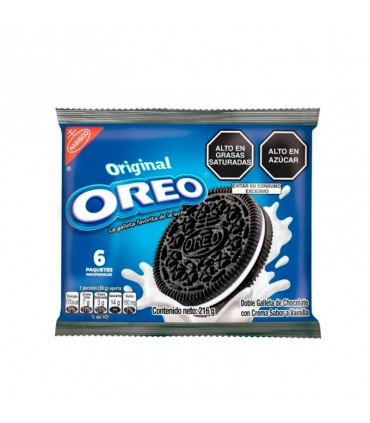 Galleta OREO Regular Paquete 6un