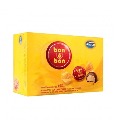 Chocolate Bon o Bon Arcor Paquete x 450 g