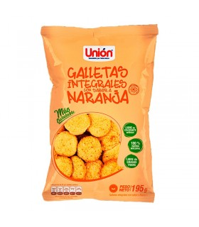 Mega Galleta Integral NARANJA UNION