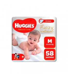 Pañales para Bebe Huggies Natural Care M