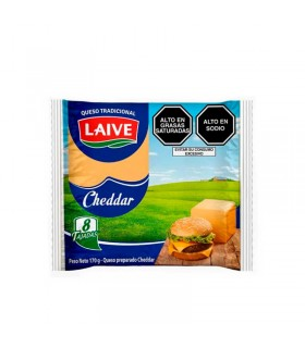 Queso Cheddar Fundido LAIVE Paquete 170 Gr